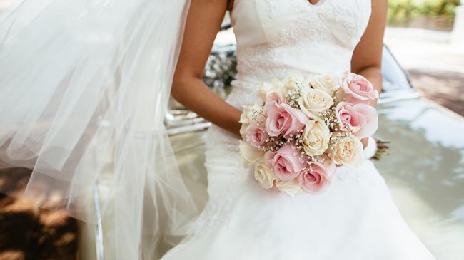 Brautstrauß Rosenstrauß Hochzeit Gärtnerei Kirchblüte